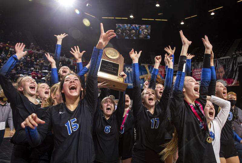 Dike-New Hartford sweeps NICL rival Denver for 14th state volleyball title