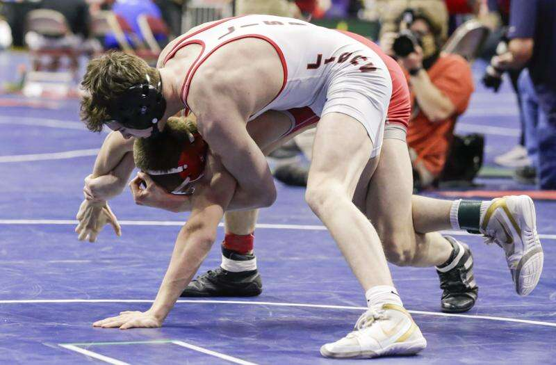From spectating to scrapping: Ed-Co's Dawson Bergan makes successful state wrestling debut