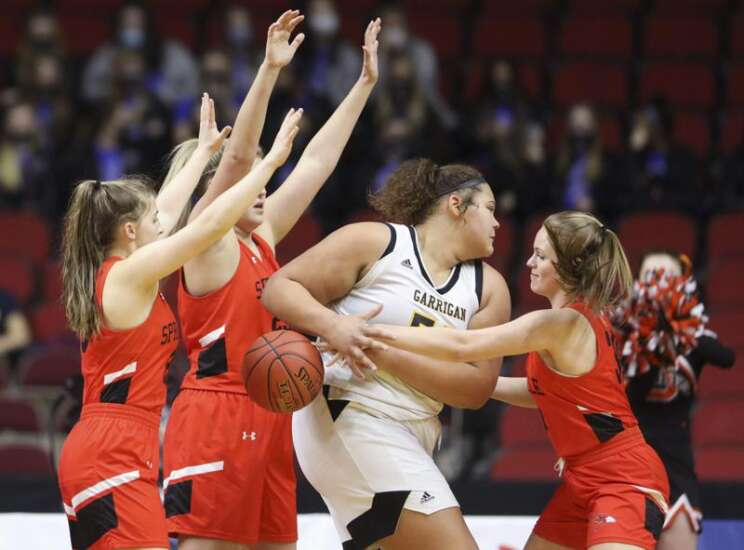 Springville pushes No. 1 Algona Garrigan to the wire at girls' state basketball