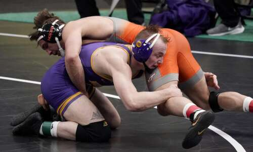 NCAA wrestling notes: UNI redshirt freshman Parker Keckeisen becomes All-American