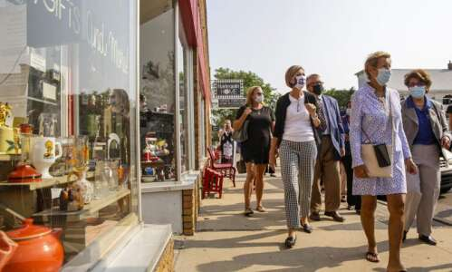 Tour of damaged Czech Village highlights aid for small businesses…