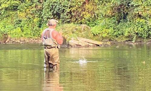 Getting schooled fishing on the Maquoketa River