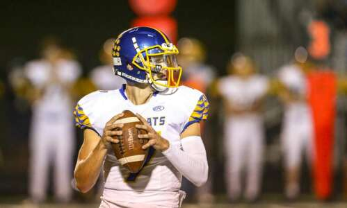 Benton's Colin Buch bombs Assumption with arm and leg
