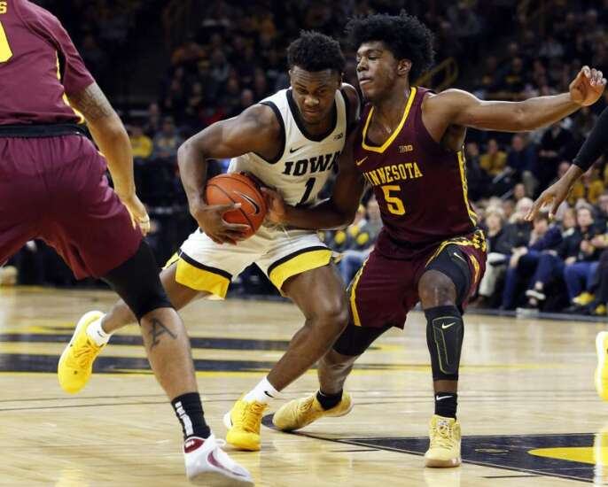 Iowa goes for hat trick against Minnesota ... in basketball