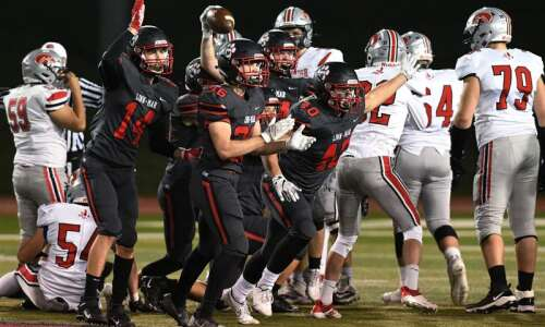 Photos: Linn-Mar vs. Iowa City High, Iowa high school football…