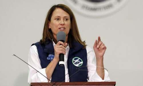 Theresa Greenfield wants Joni Ernst back in Washington to increase…