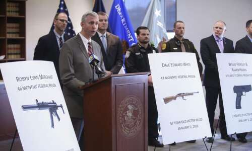 Firearms cases remain priority for Iowa federal prosecutors