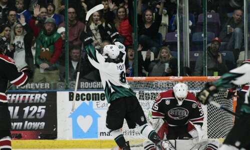 Cedar Rapids RoughRiders give up 3 goals in 54 seconds…