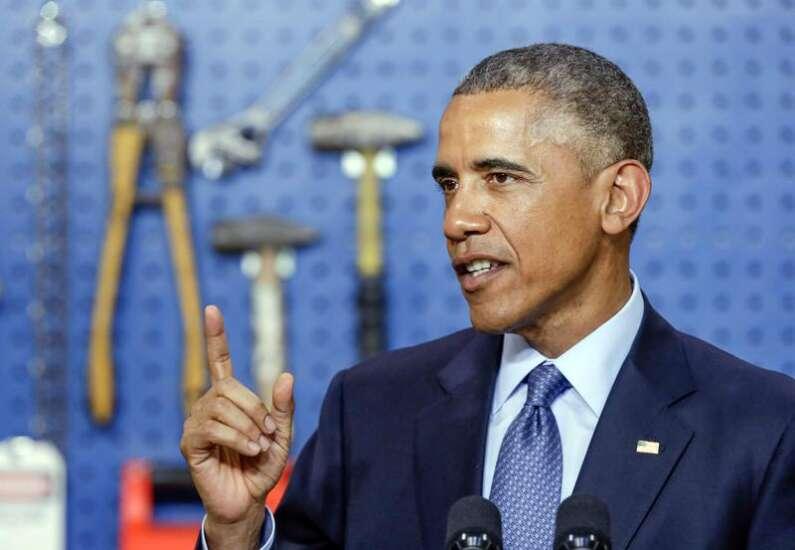 President Barack Obama pushes expanded broadband in Cedar Falls
