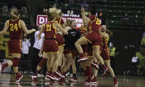 Iowa State women's basketball celebrates Baylor win, moves on to…