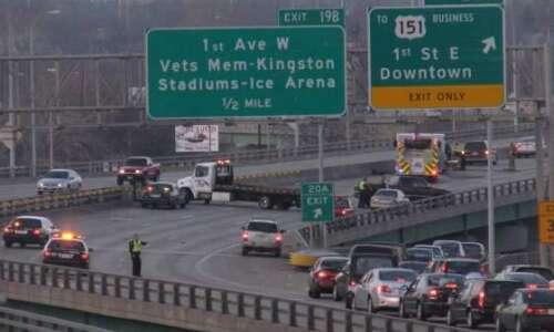 VIDEO: Driver injured, cited after Interstate 380 crash
