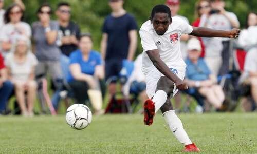 Cedar Rapids Washington looks right at home at boys' soccer…