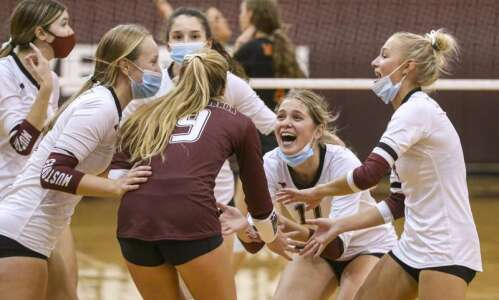 Photos: Action from the Wamac volleyball tournament at Mount Vernon…