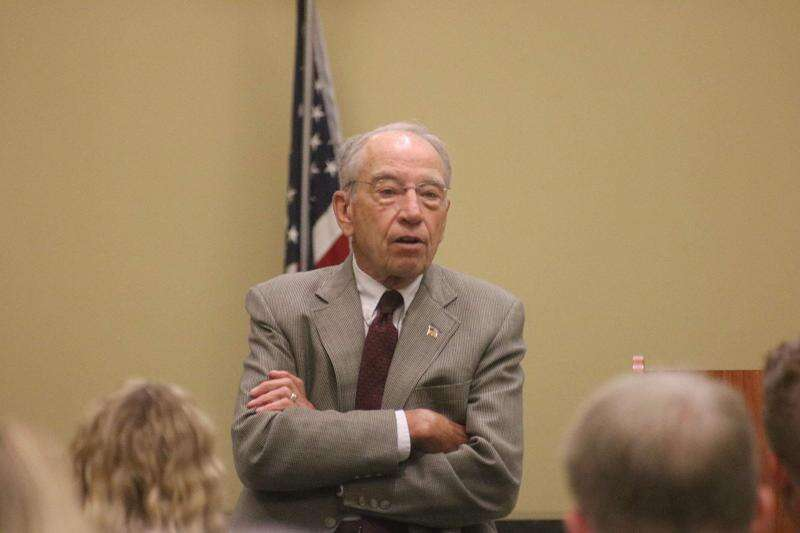 Sen. Chuck Grassley makes stops in southeast Iowa during 99 County Tour