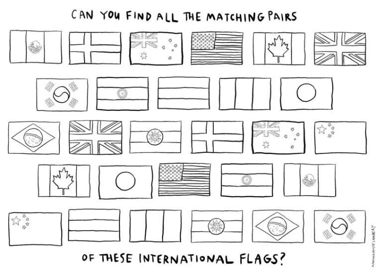 Matching: Find the pairs of flags