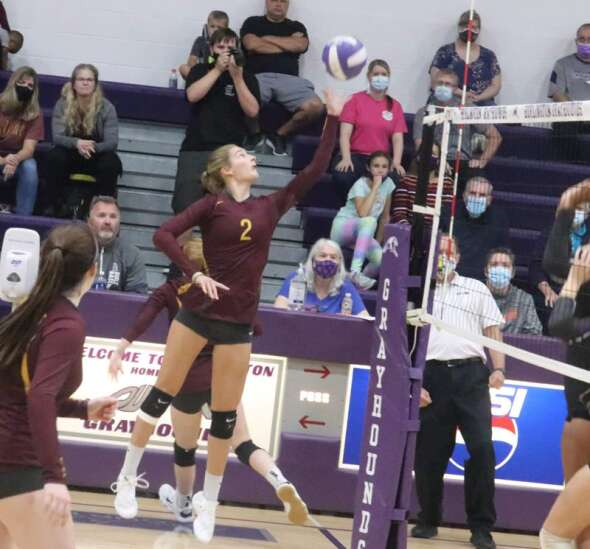 Panther volleyball season ended in Burlington