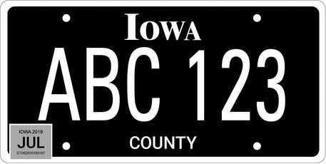 Iowa DOT now offering new all-black license plate