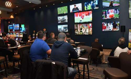 Iowans' sports betting slows in April