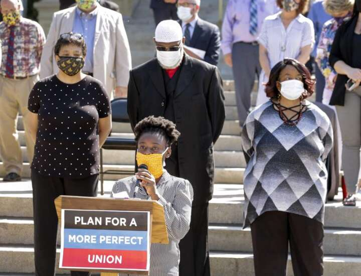 Urgency for racial justice outside Iowa Capitol, little action inside
