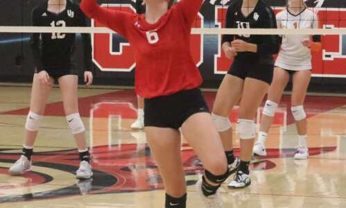 Coaches evaluate volleyball team potential with scrimmages