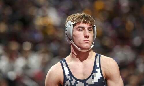 Cedar Rapids Xavier wrestler Christian Stanek displays tough style with…
