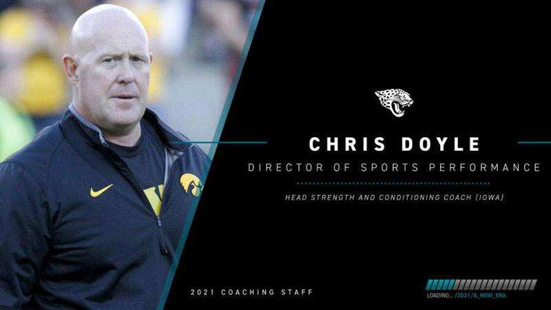 "Jacksonville Jaguars Coach Urban Meyer calls new hire Chris Doyle ""best of the best"""