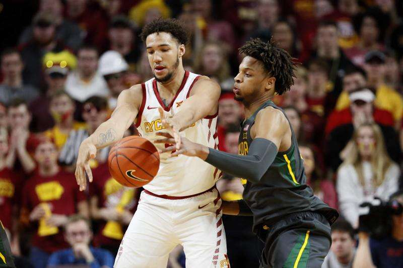 No. 1 Baylor dominates post play to secure season sweep of Iowa State men's basketball