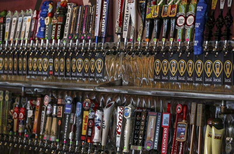 Pedaler's Fork offers 108 beers on tap, varied menu