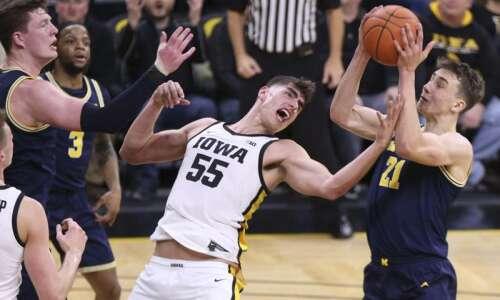 Iowa vs. Michigan men's basketball game moved up to Feb.…