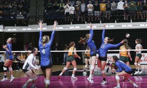 Gladbrook-Reinbeck sweeps St. Albert to reach 1A state volleyball final