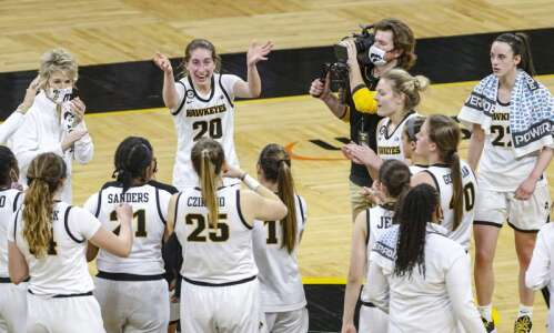Iowa women's basketball team is 'not in awe anymore' against…