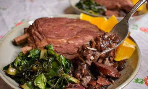 When temperatures are this cold, feijoada is sure to warm…
