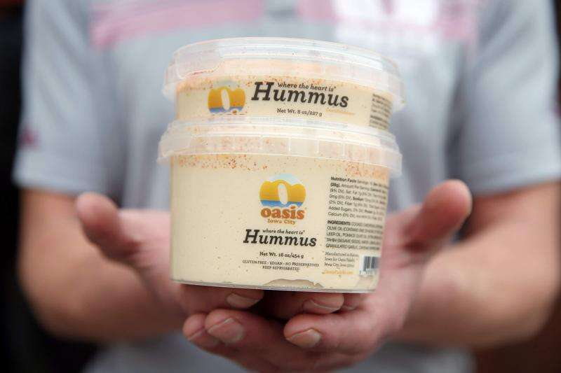 Oasis Falafel hummus will be in more grocery stores, Coralville Costco as Oasis Street Food