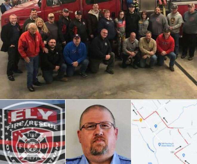 Procession Saturday to honor Ely firefighter, correctional officer killed at Anamosa prison