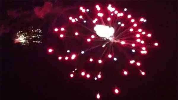 Most of Coralville's firework finale accidentally set off early; watch video