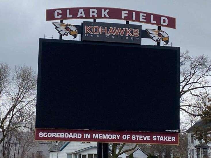 Coe's brand new scoreboard honors late football coach Steve Staker