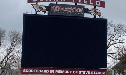 Coe's brand new scoreboard honors late football coach Steve Staker