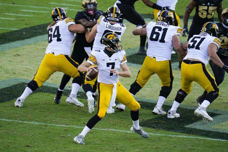 Iowa QB Spencer Petras has mixed results in first career start