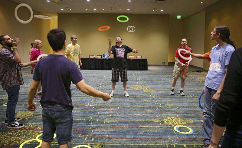 Jugglers from around the world creating 'moving sculpture' in Cedar Rapids