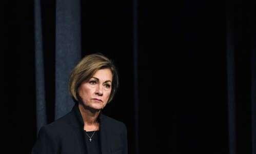 Iowa Gov. Kim Reynolds auctioned off her time for pork…