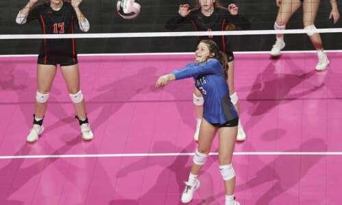 Photos: Gladbrook-Reinbeck vs. Springville, Iowa Class 1A state volleyball tournament…