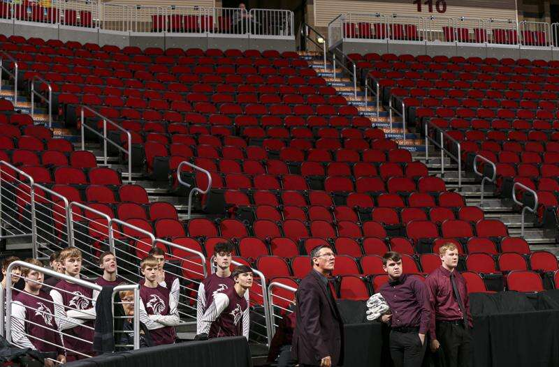 Surreal scene as Iowa boys' state basketball championships played before precious few fans