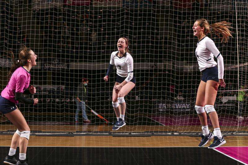 Pleasant Valley ousts reigning 5A champion Cedar Falls in state volleyball quarterfinals