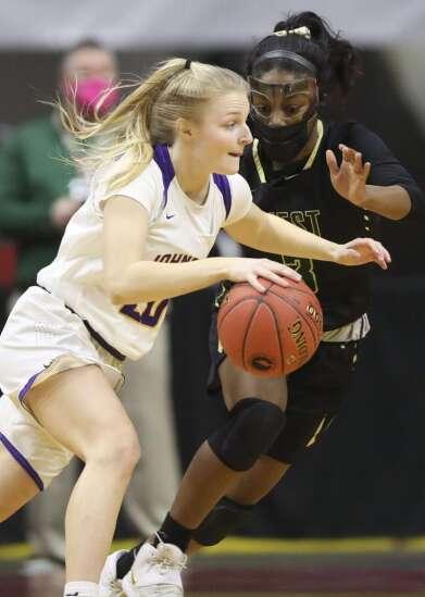 Photos: Iowa City West vs. Johnston, Iowa Class 5A girls' state basketball semifinals