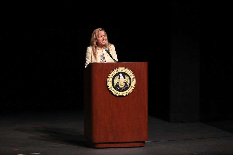 Former University of Iowa provost takes questions about why she wants to leave