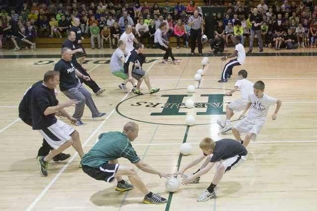Video: Cedar Rapids Police, kids battle on dodgeball court