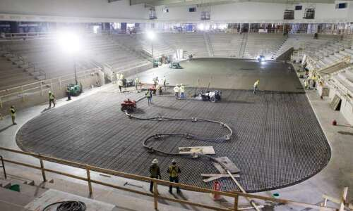 Photos: Laying the ground floor (literally) at Xtream Arena