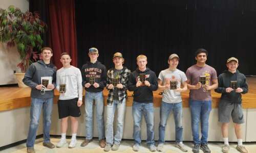 Trojan wrestlers receive postseason awards