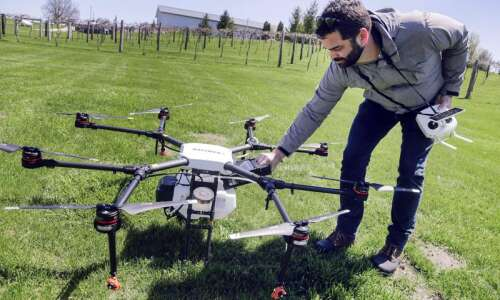 Iowa City company raises $7.5 million for drone crop-spraying technology