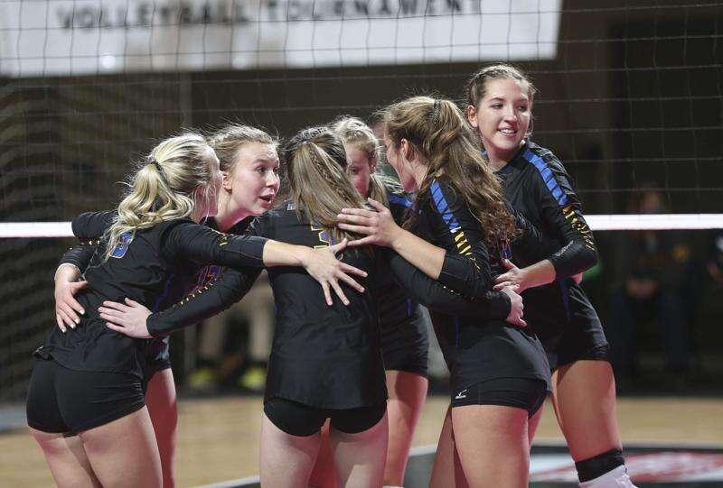 Photos: Osage vs. Humboldt, Iowa Class 3A state volleyball quarterfinals